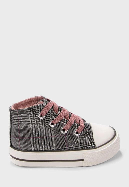 Infant Checked Sneakers