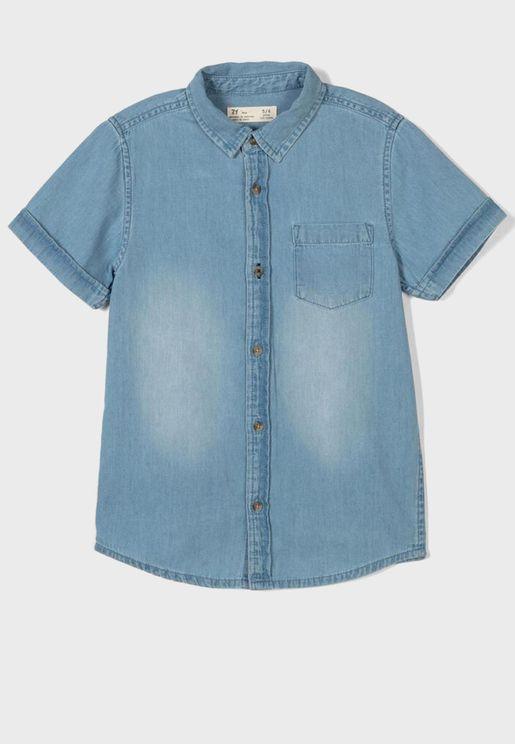 قميص بجيب امامي للاطفال