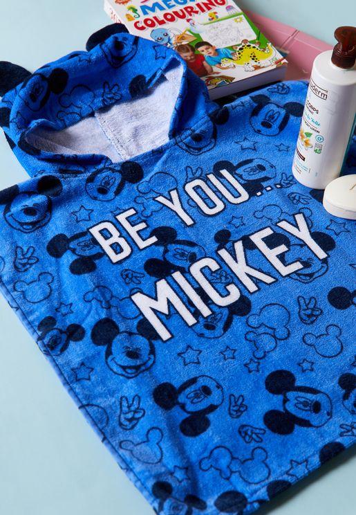 Kids Mickey Hooded Towel
