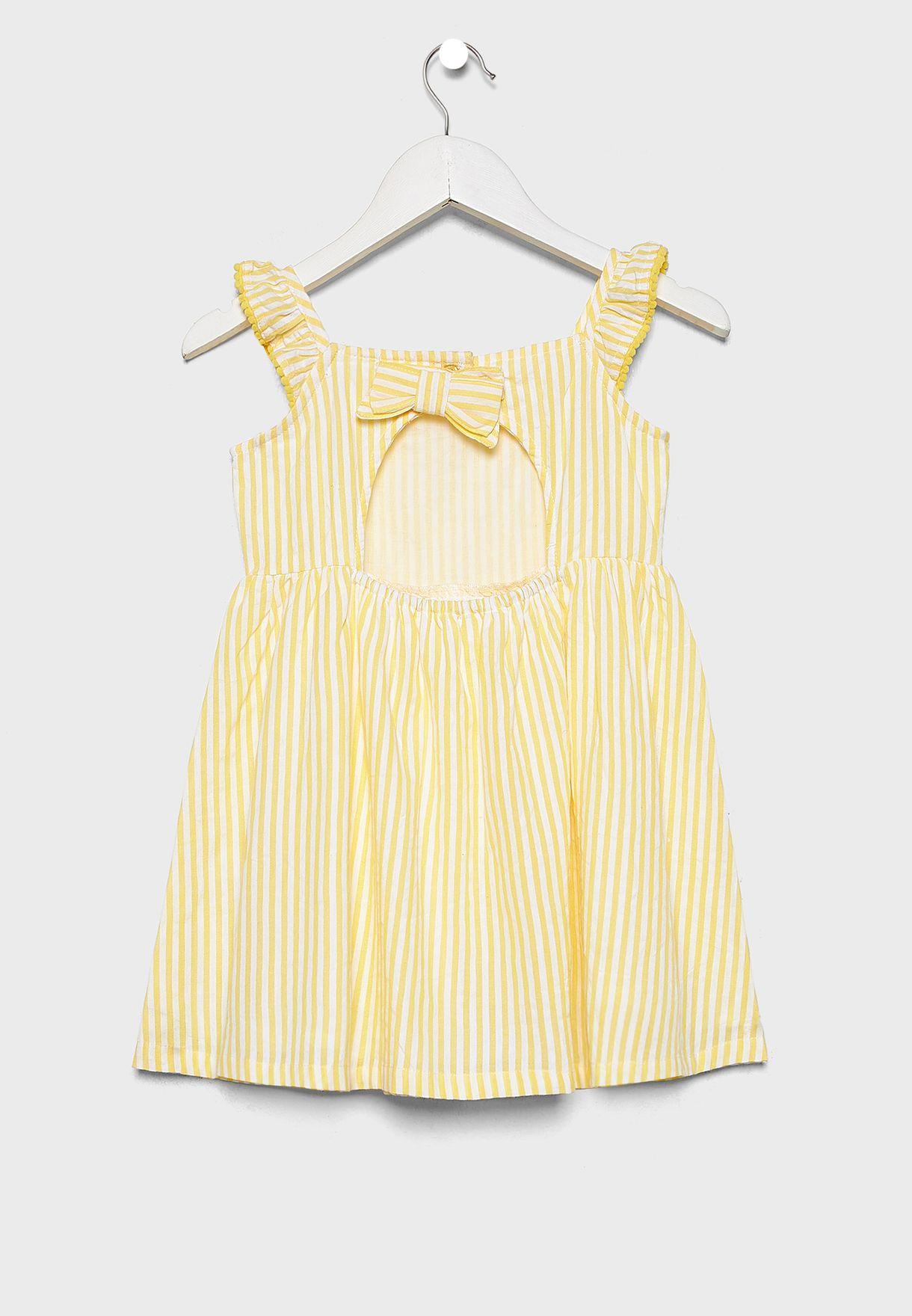فستان مخطط بفيونكة