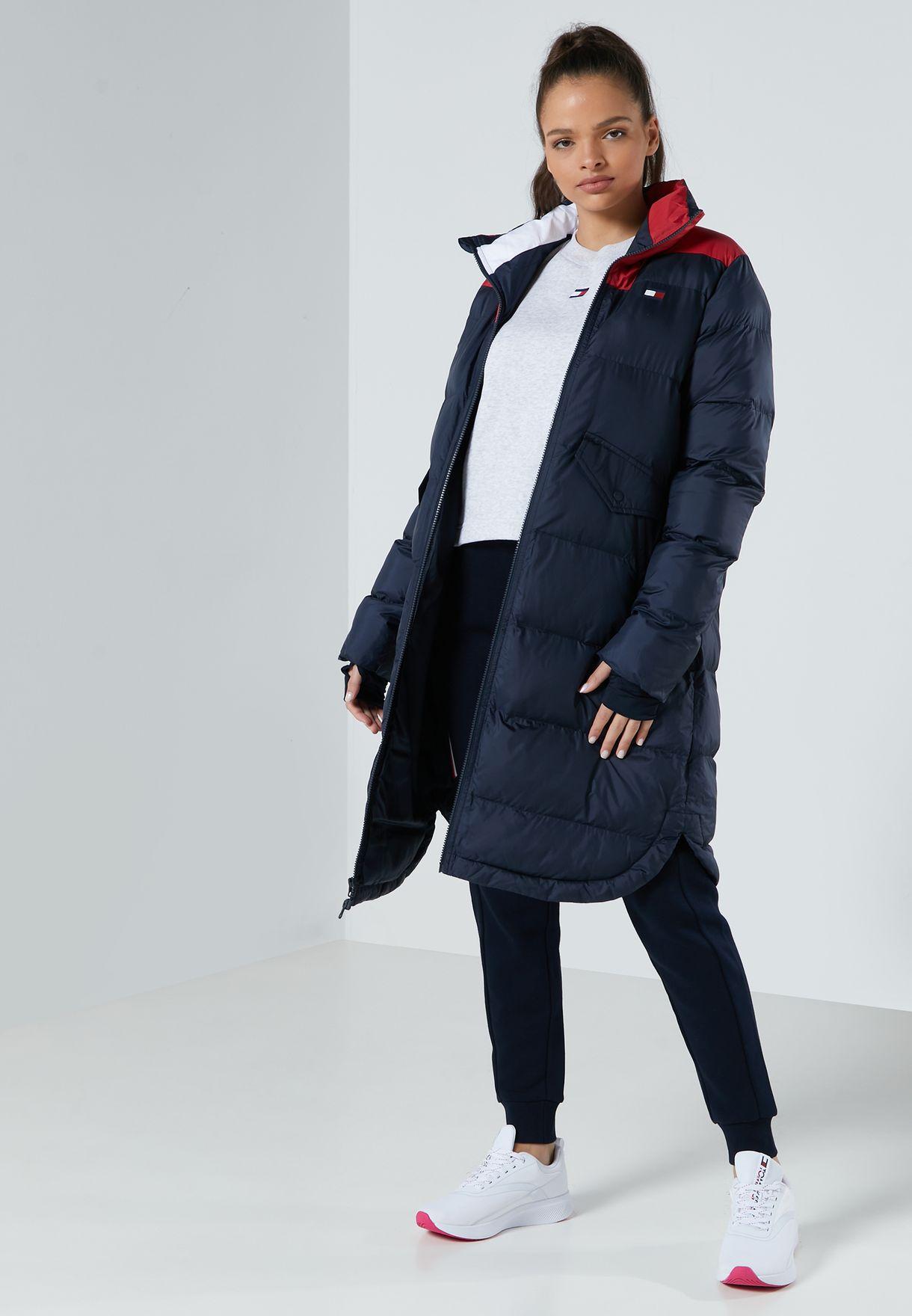 Colour Block Oversized Insulation Jacket