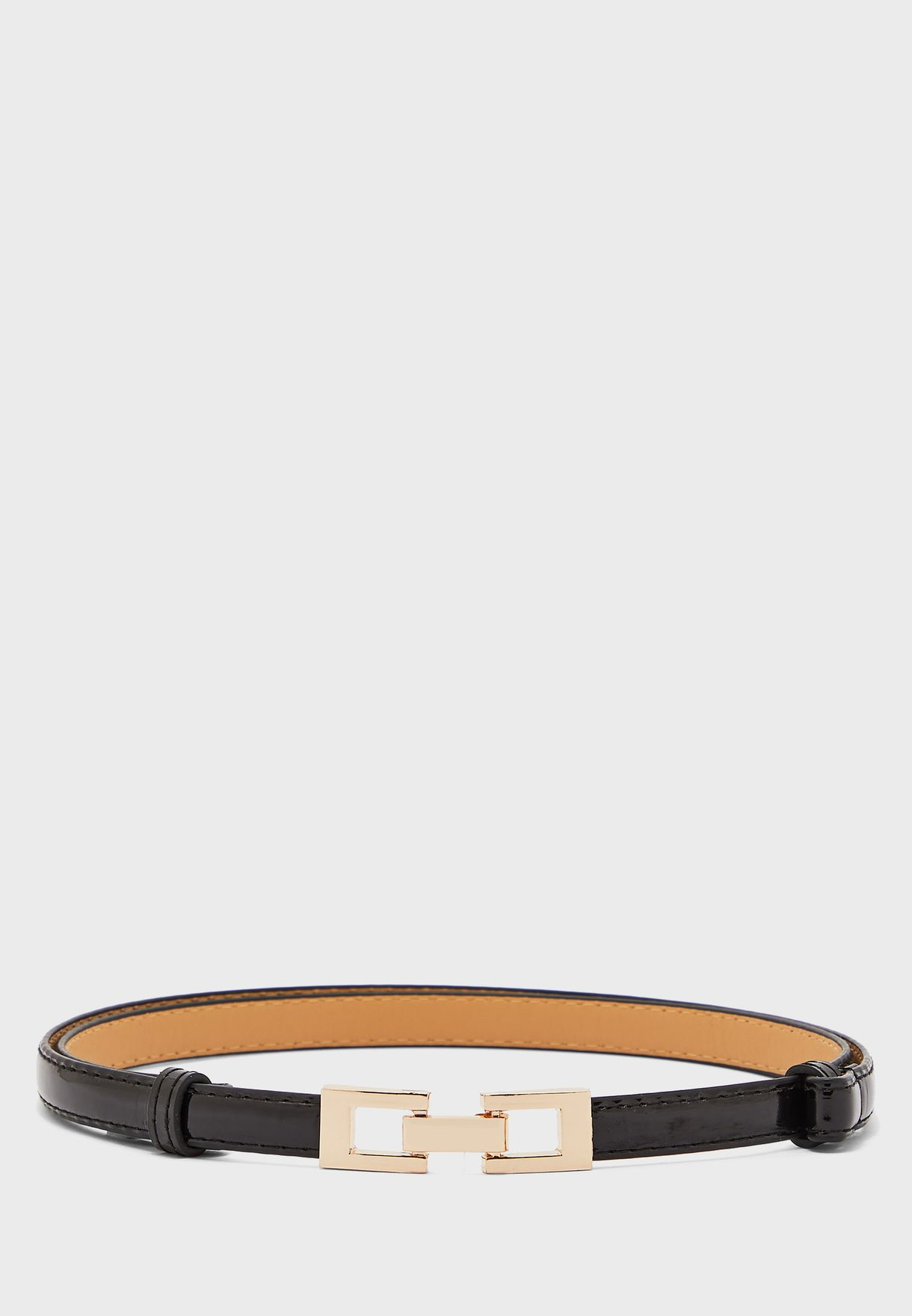 Mini Rectangle Buckle Skinny Belt