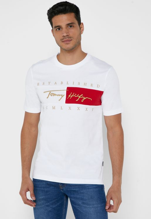 Signature Flag Crew Neck T-Shirt