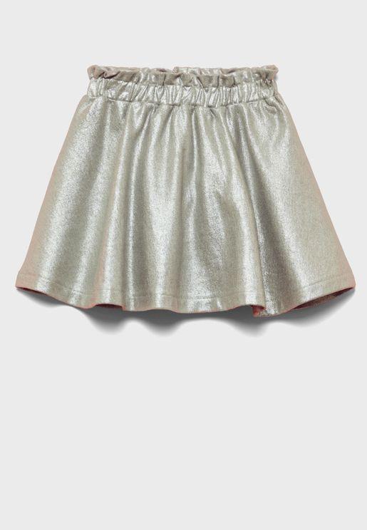 Kids Metallic Detail Skirt