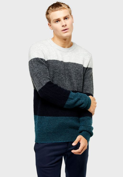 Harlow Block Stripe Sweater