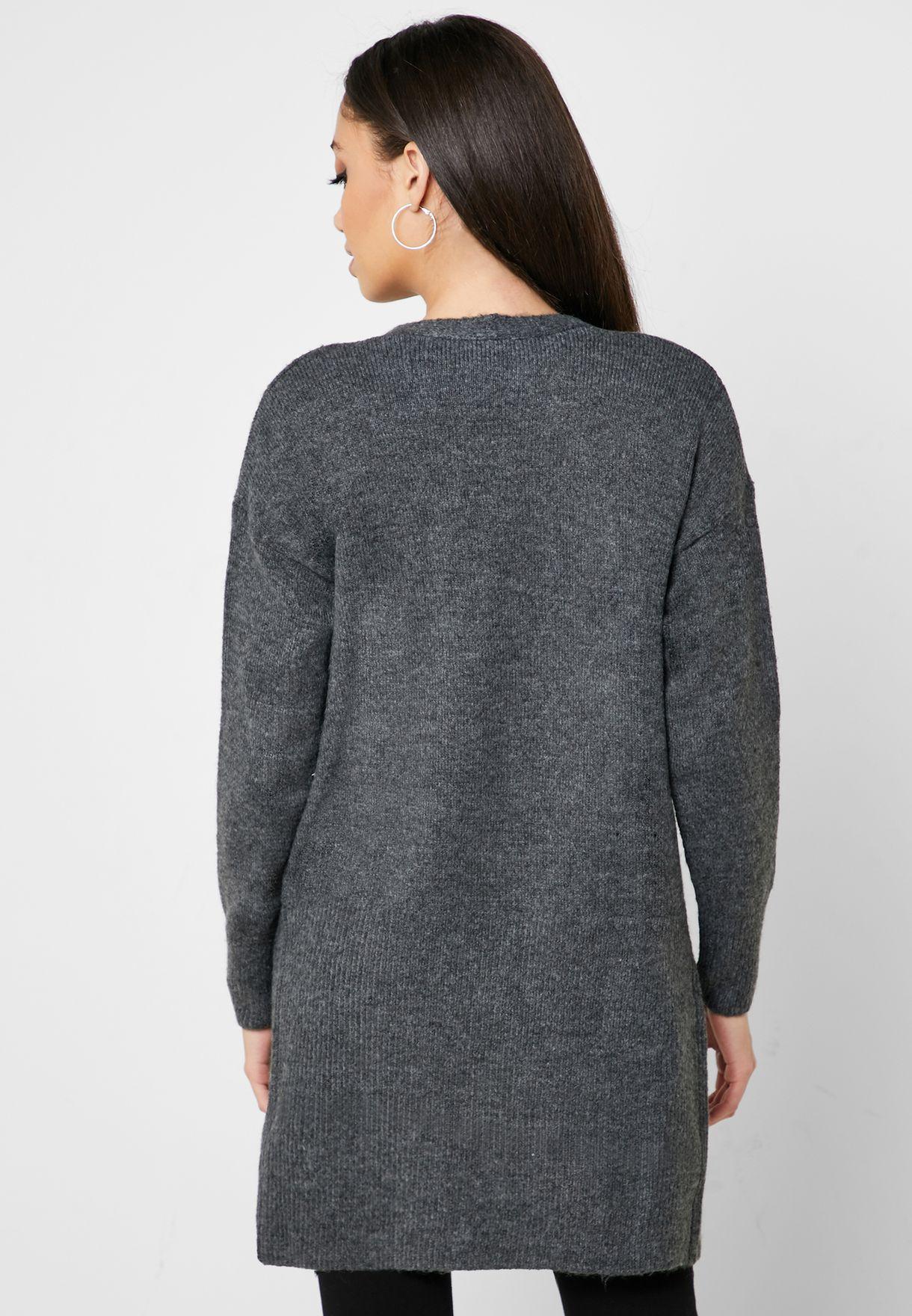 Pocket Detail Longline Cardigan