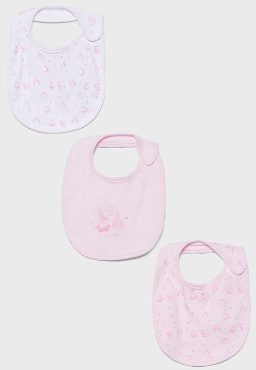 Infant 3 Pack Soft Bibs