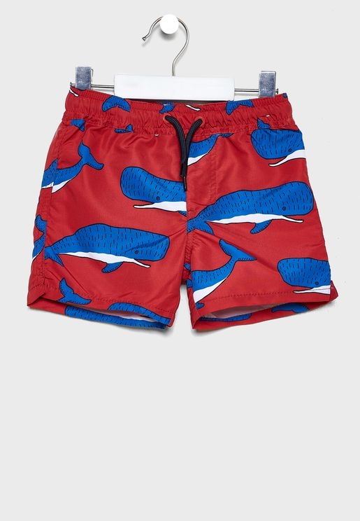 Kids Whale printed Shorts