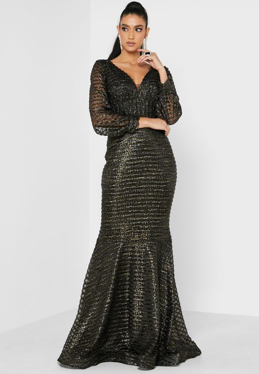 Striped Shimmer Dress