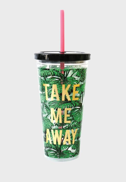 Take Me Away Tumbler With Straw