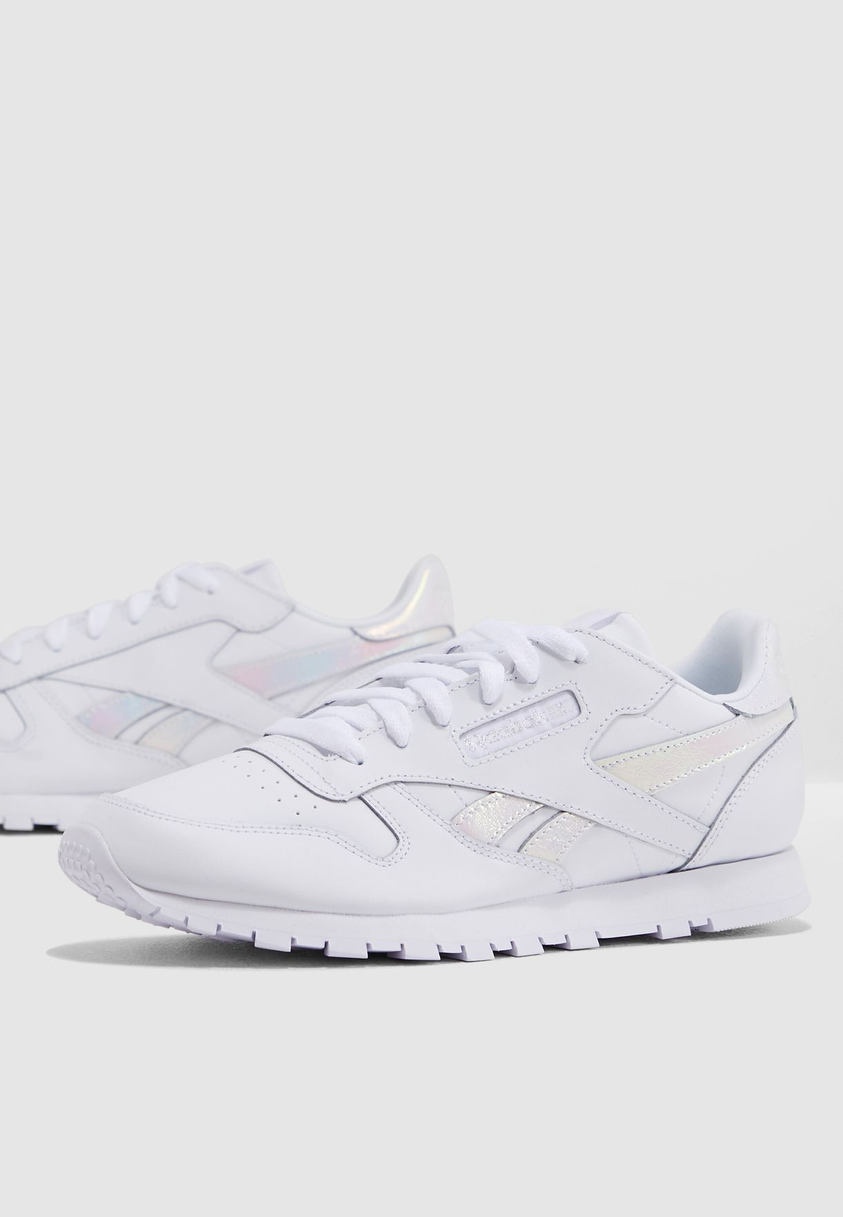 Shop Reebok white Classic Leather CN7499 for Kids in Saudi ... 510484a3a