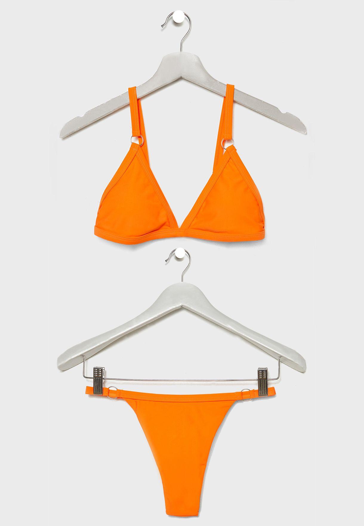 Plunge Ring Detail Bikini Set