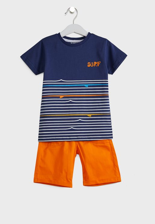 Kids Printed T-Shirt + Shorts Set