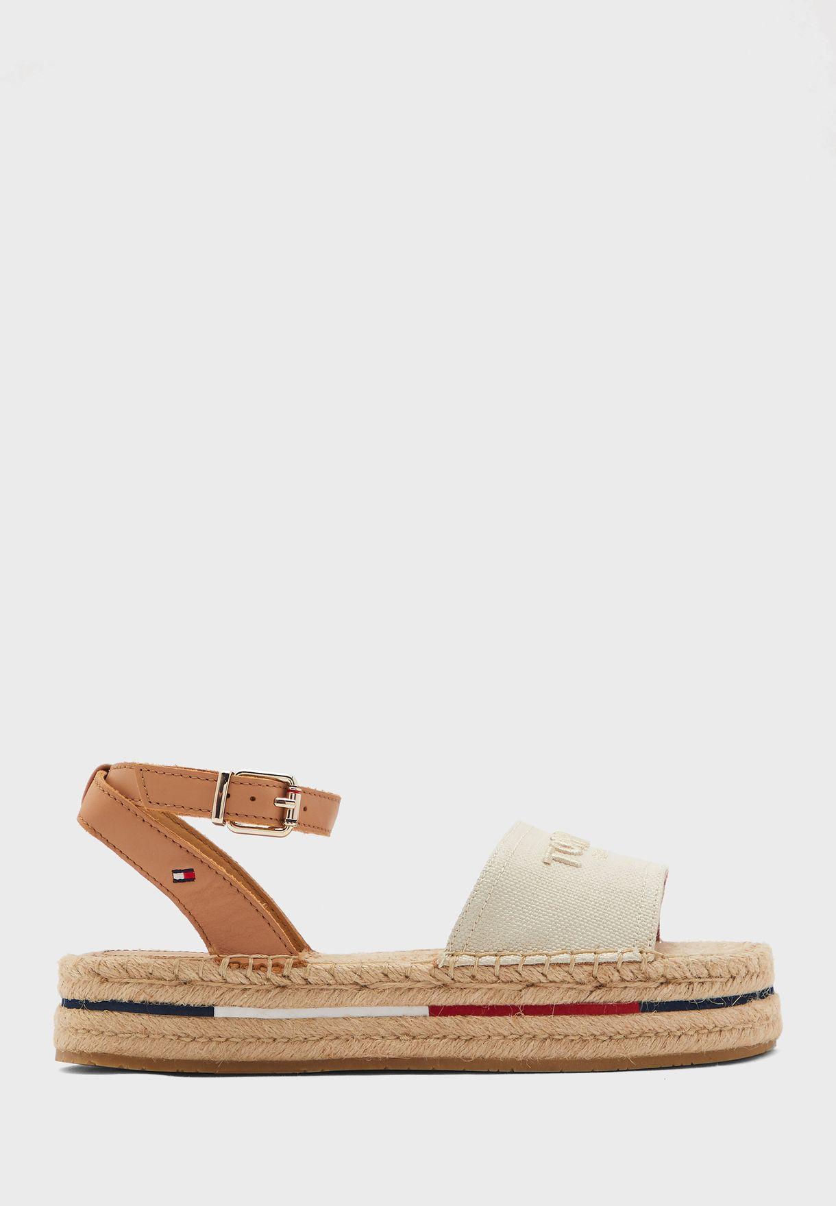 Tropical Fade Opened Flat Sandal