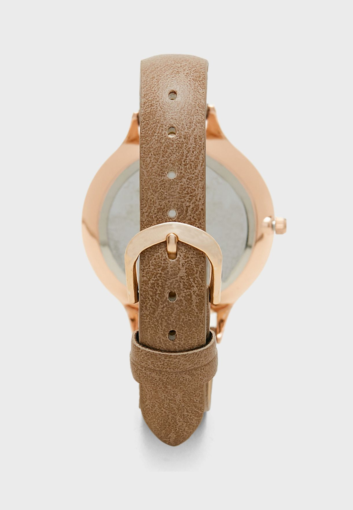 Choc Face Tonal Dial Strap Watch