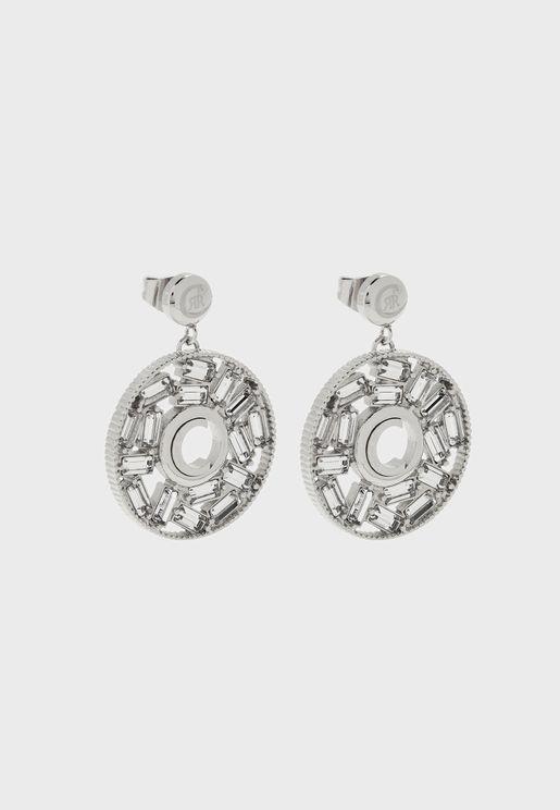 Baguette Swarovski Stone Drop Earrings