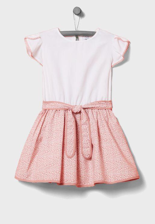 Kids Belted Dress