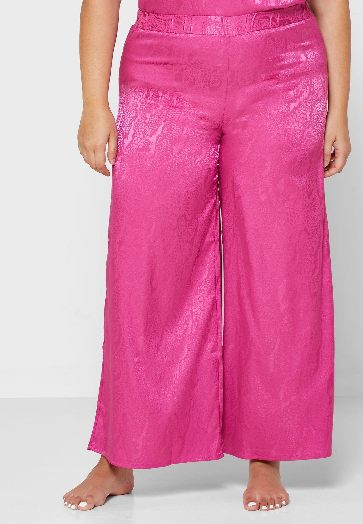 Jacquard Lace Trim Pyjama Set