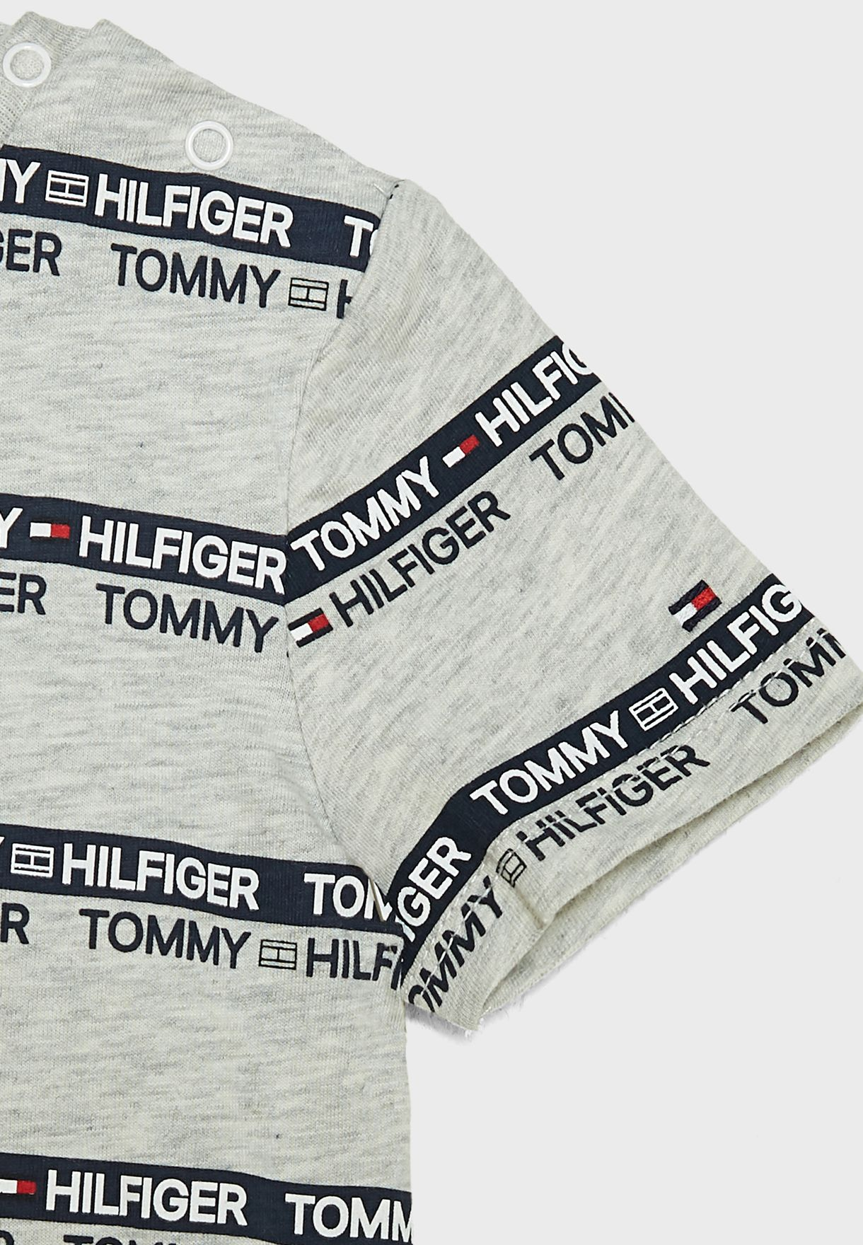 Kids Logo Stripe Print T-Shirt