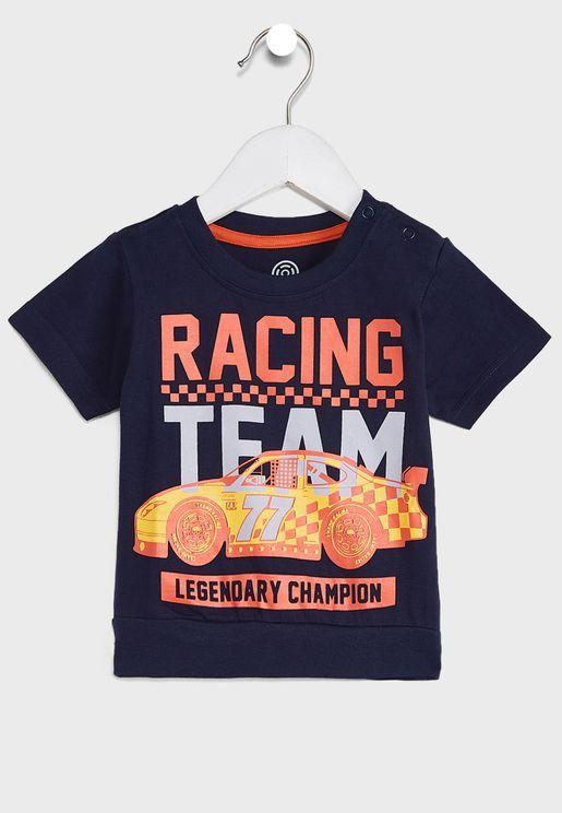 Printed Slogan Long Sleeve T-Shirt