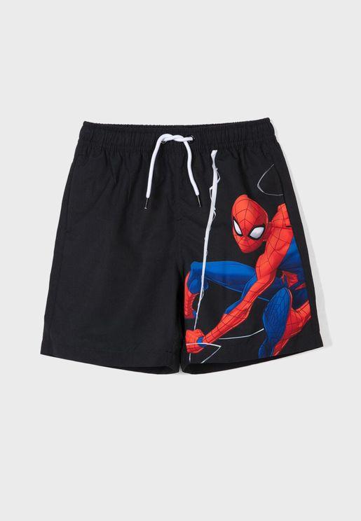 Kids Spiderman Shorts