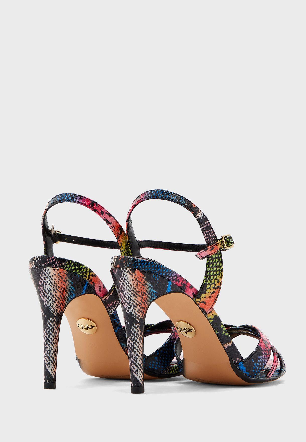 Anja Printed Ankle Strap Sandal