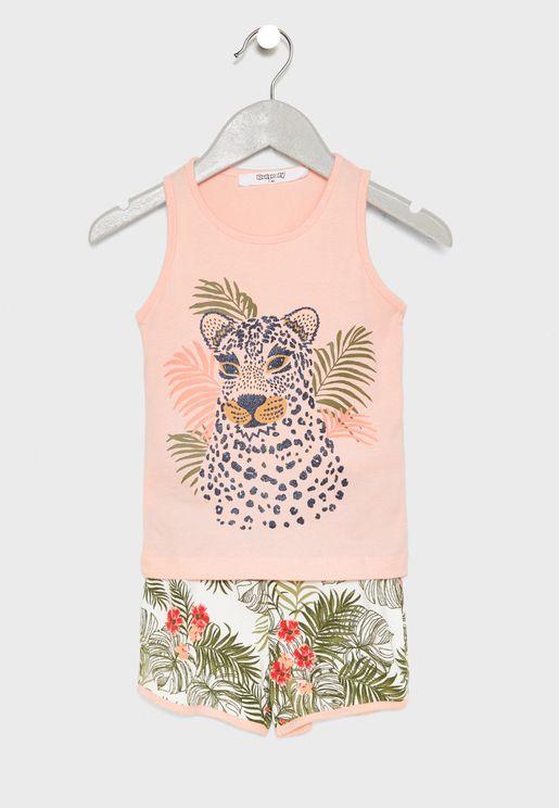 Infant Tiger Graphic Pyjama Set