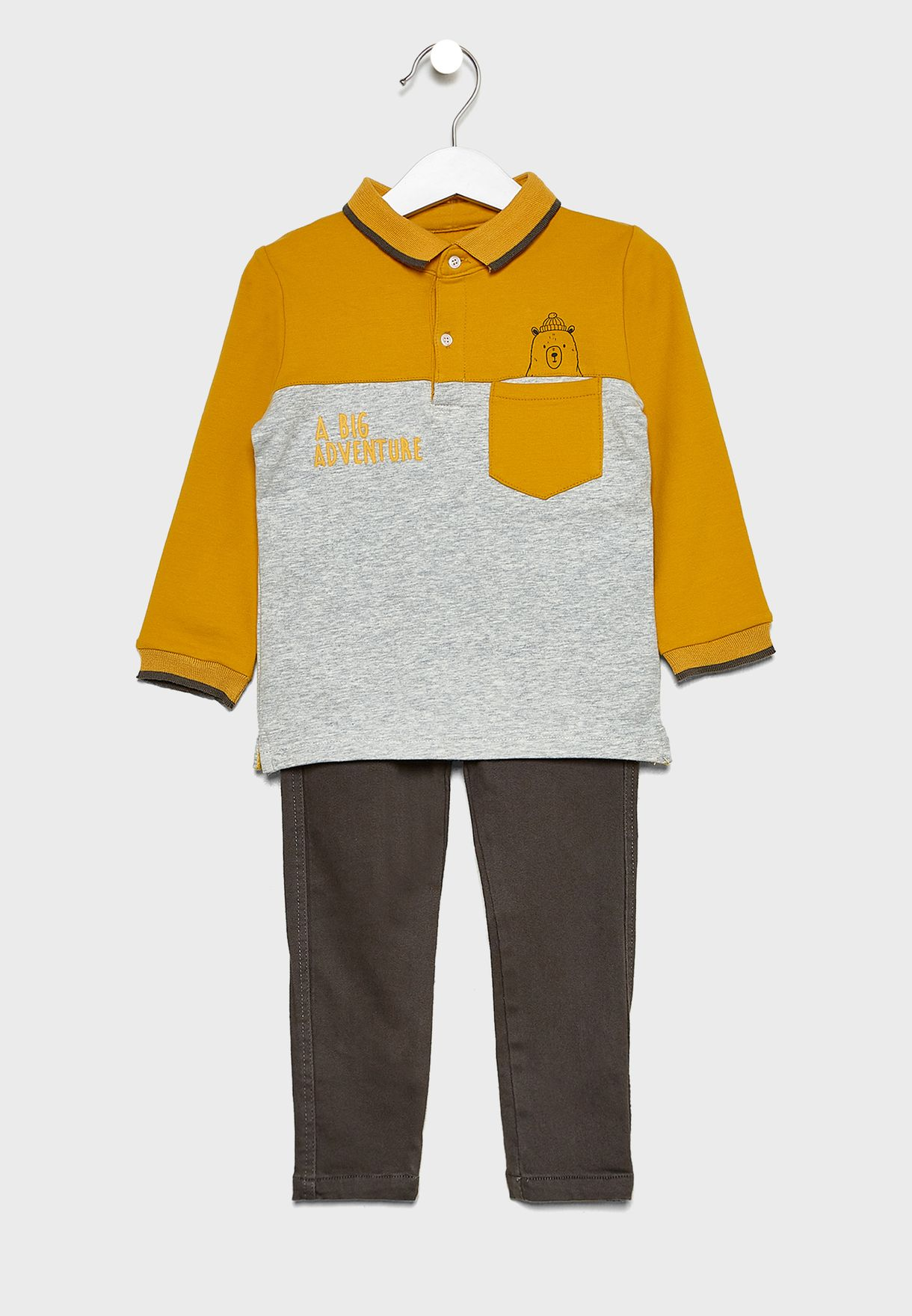 Kids Printed Sweatshirt + Sweatpants Set