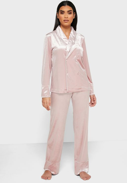 3 in 1 Double Breasted Pyjama Set