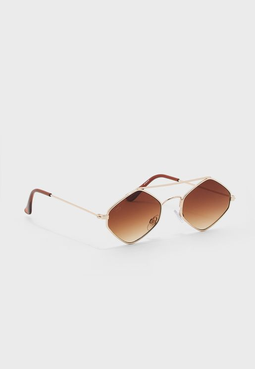 Polarised Hexagon Sunglasses