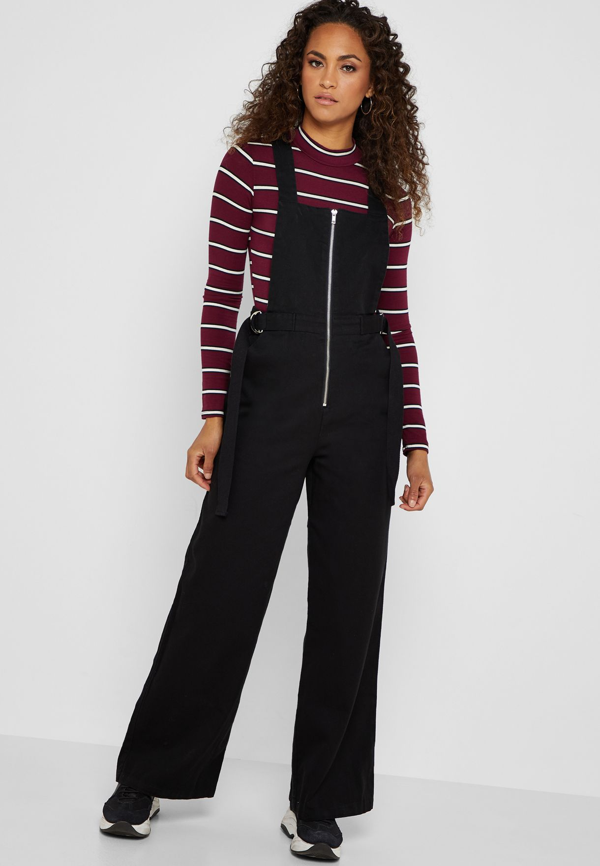 e2ed719b23 Shop Forever 21 black Zip Detail Belted Jumpsuit 317688 for Women in Kuwait  - 20008AT36BAP