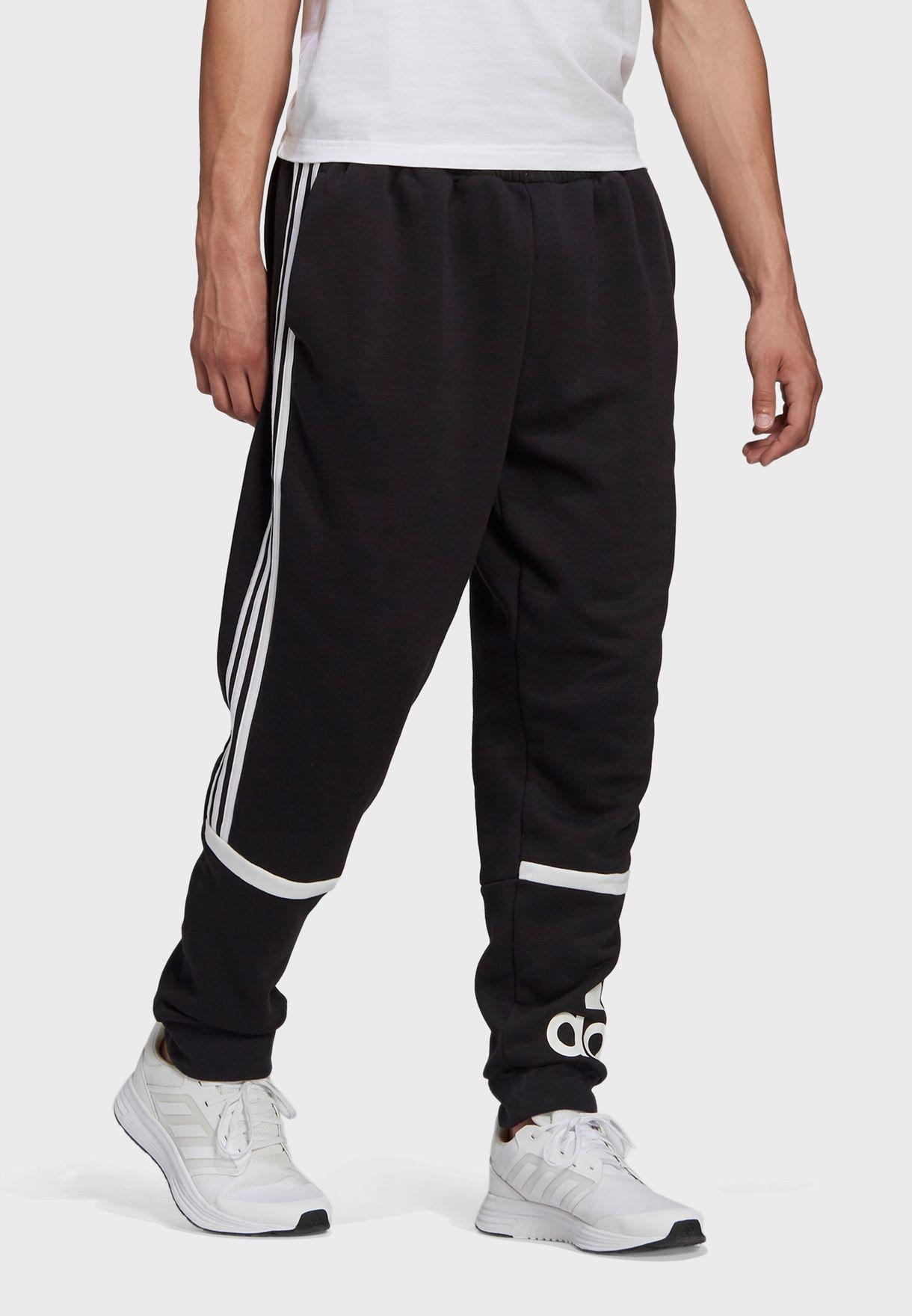 Colour Block Cuffed Sweatpants