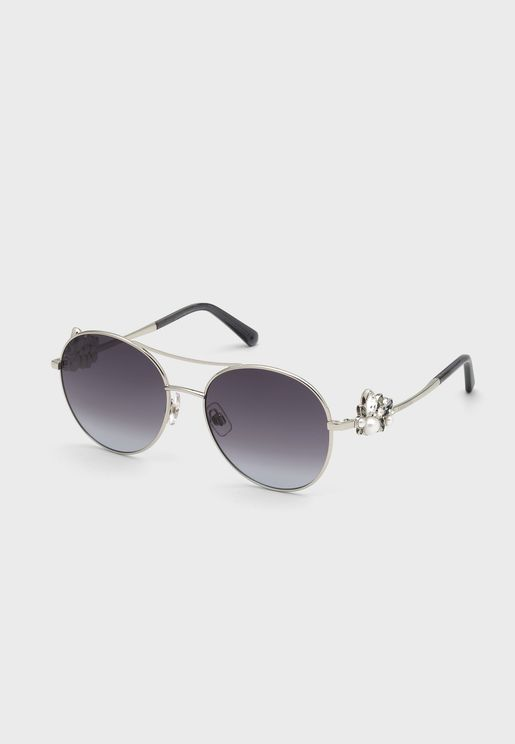 Polarized Brow Bar Aviator