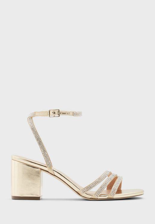 Elliee Multi Strap Mid Heel Sandals