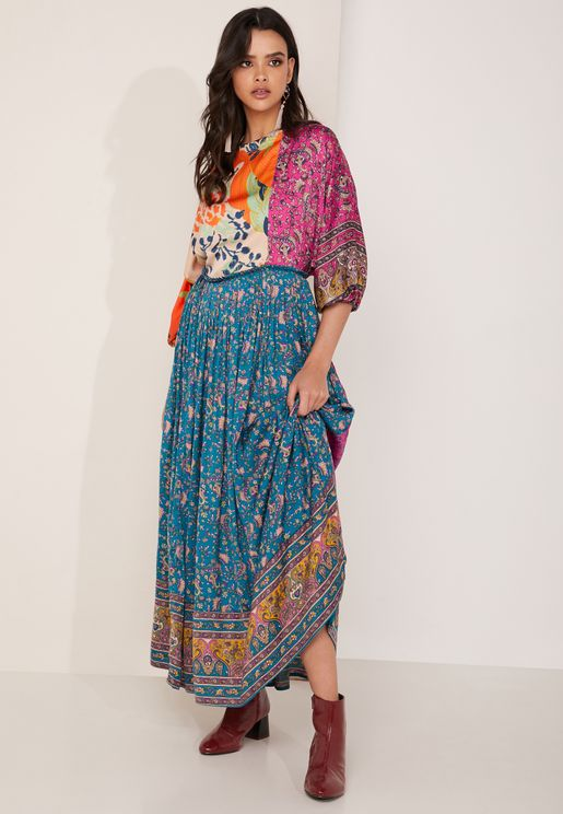 Print Clash Maxi Dress