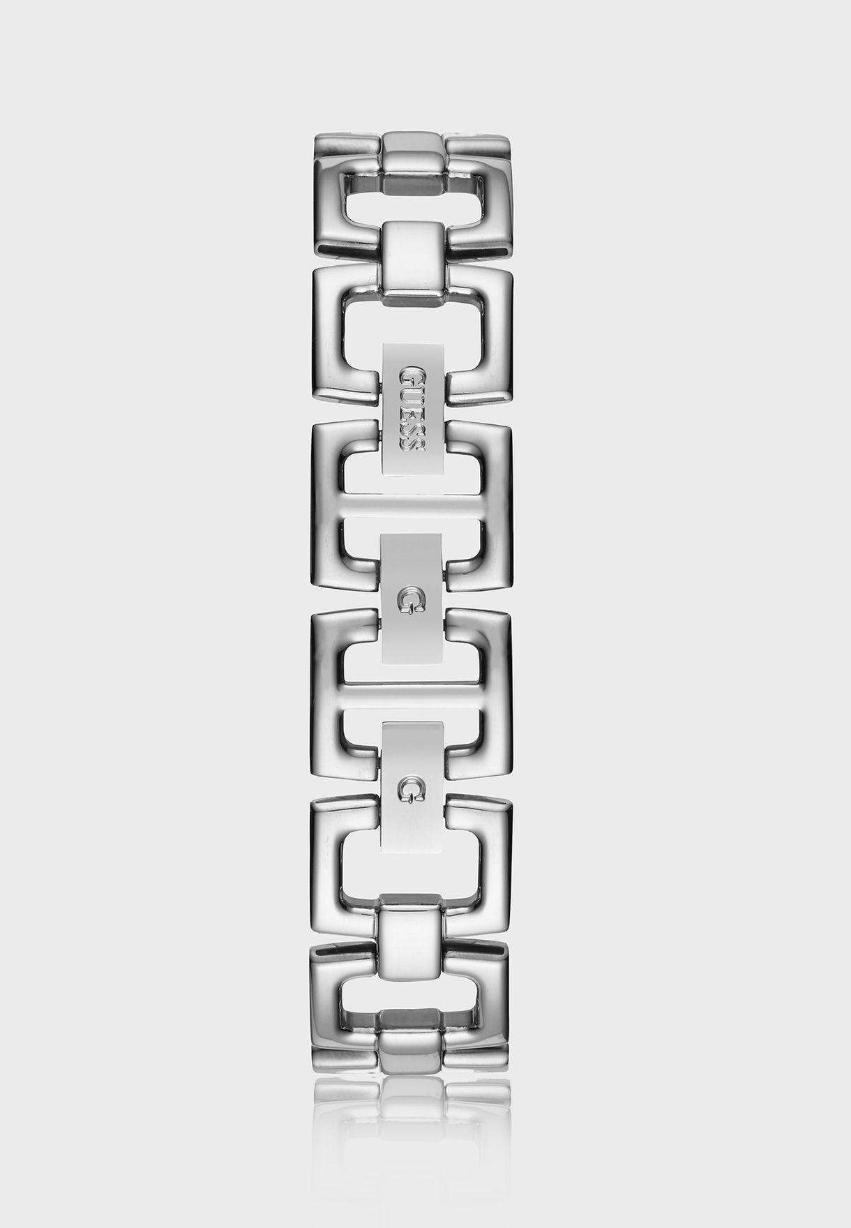 ساعة كلاسيكية بشعار الماركة