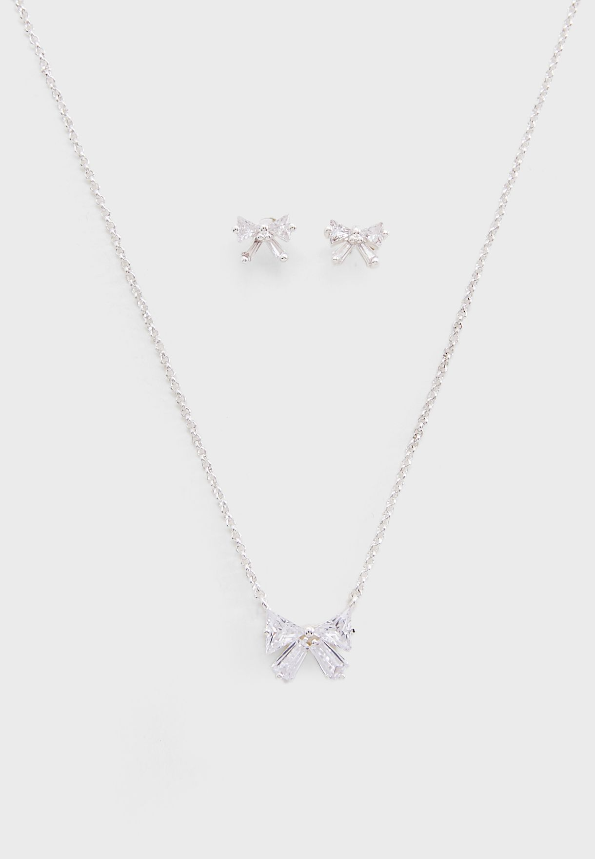 Bow Earrings+Necklace Set