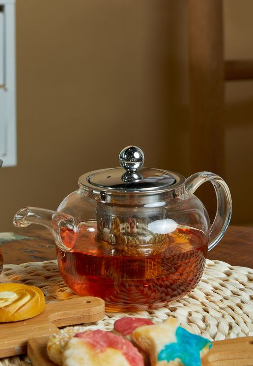 Glass Teapot with Strainer 500ml