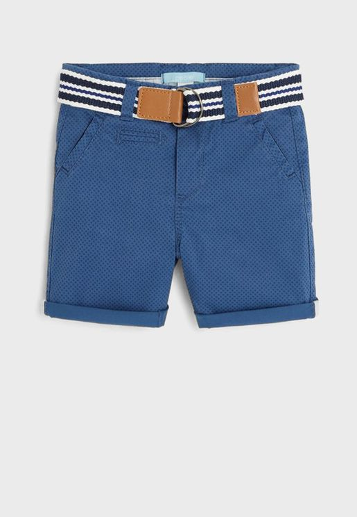 Infant Casual Shorts With Belt