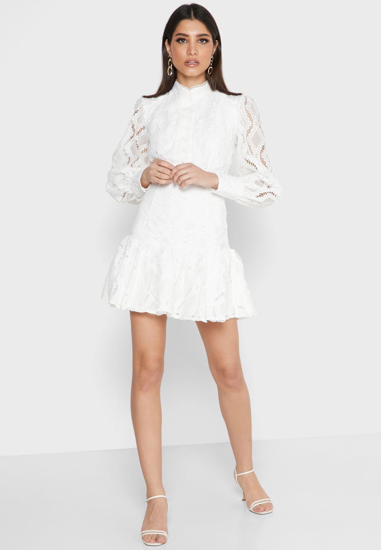 فستان باكمام فلوت