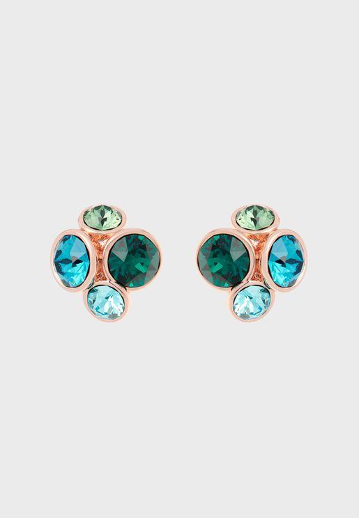 Lynda Jewel Cluster Stud Earrings