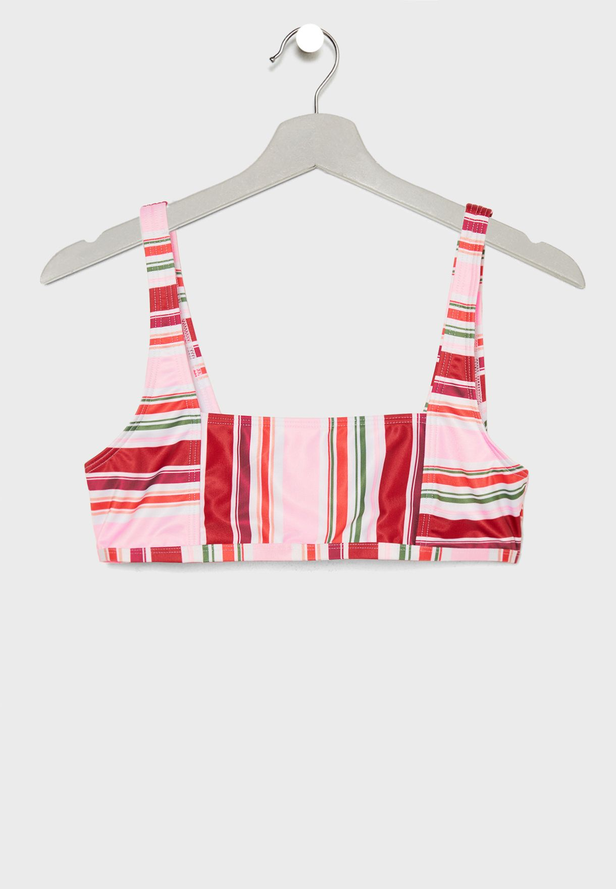 Square Neck Striped Bikini Set