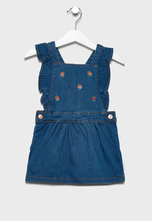 Infant Embroidered Dungaree