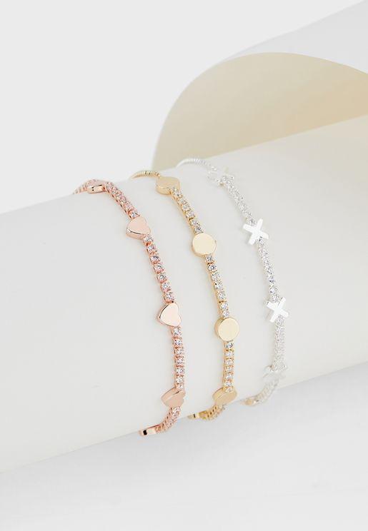 Beaded Set Of 3 Bracelets