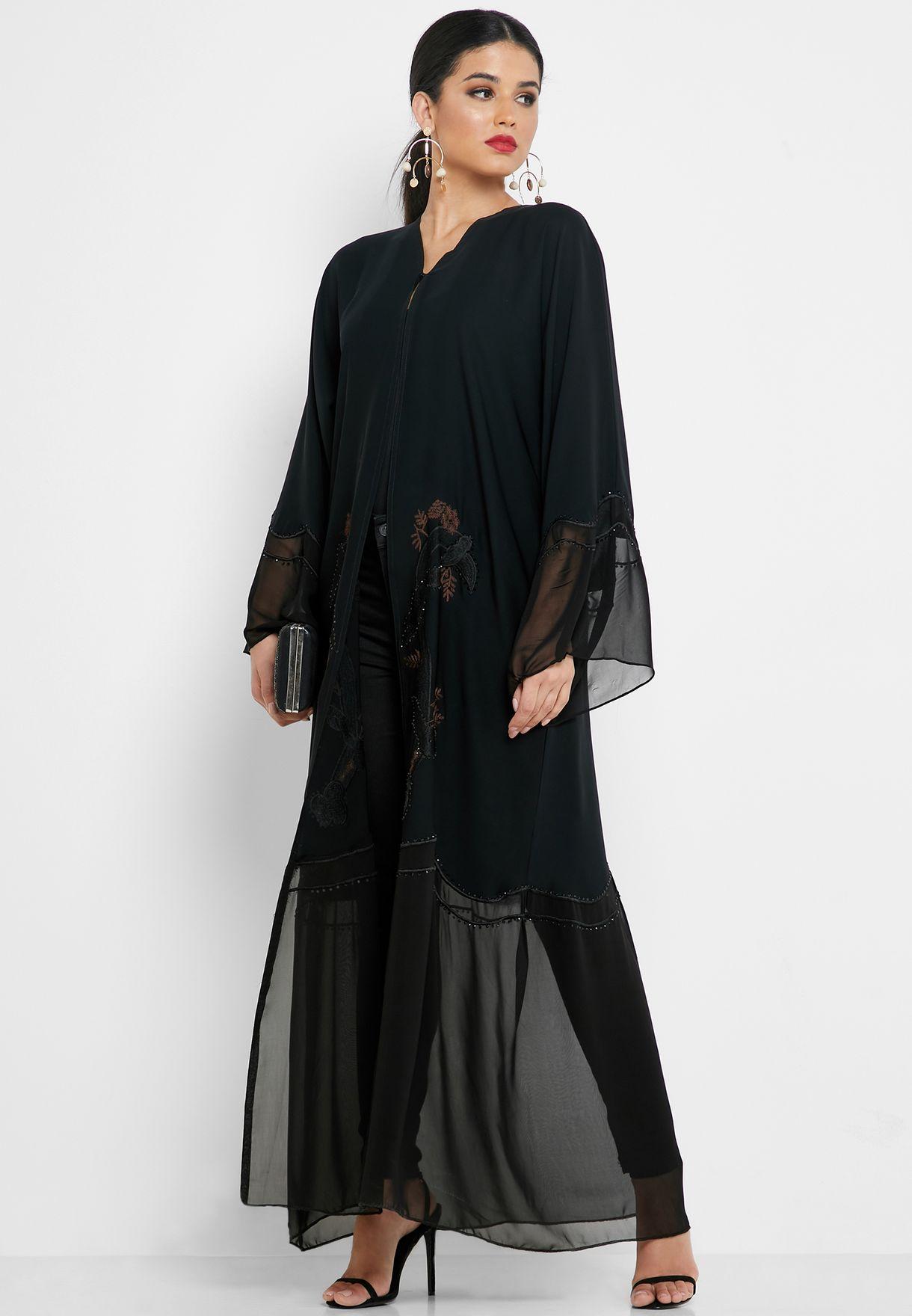 Embellished Front Abaya