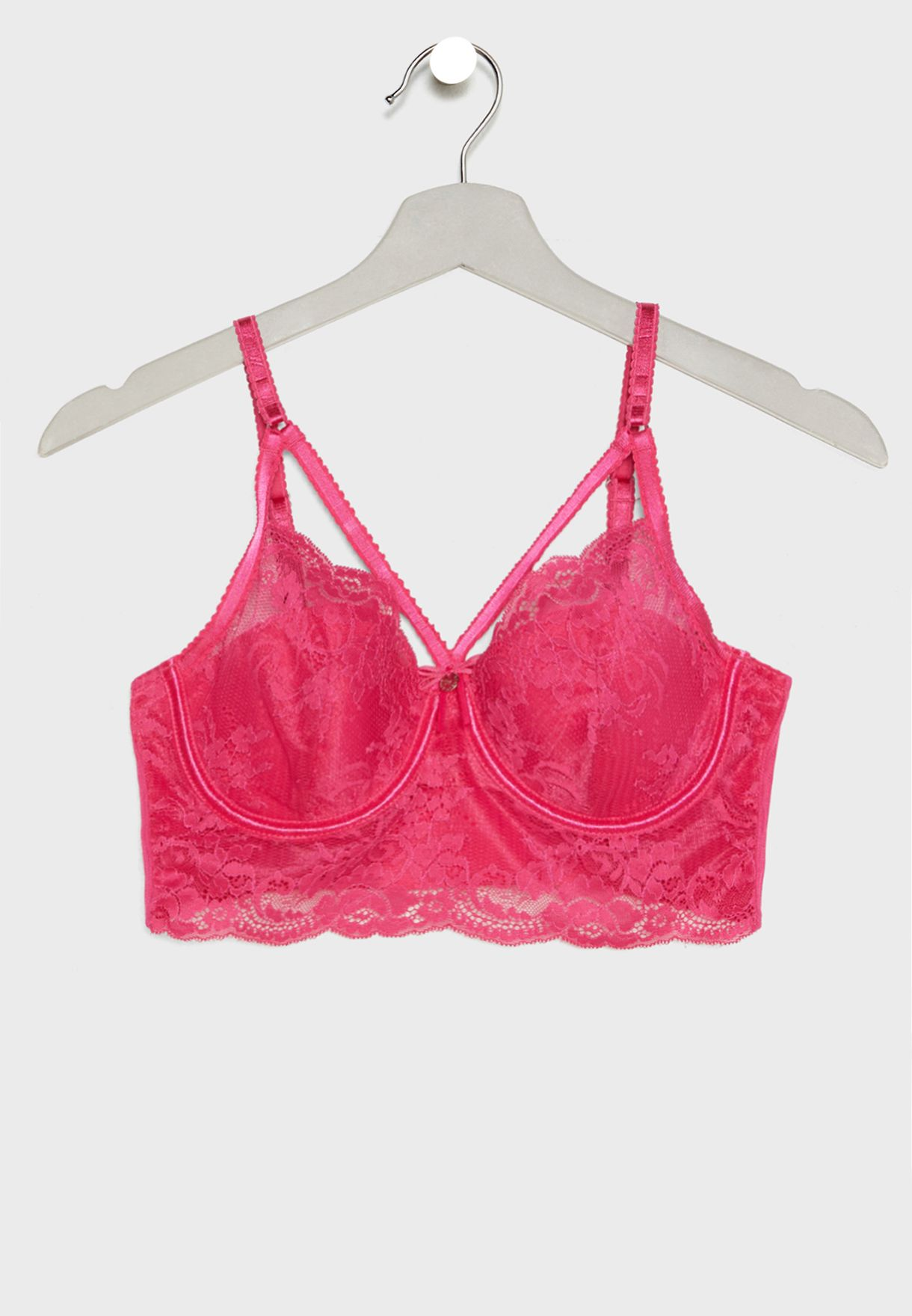 1c7f3e3f35e9 Shop Boux Avenue pink Odette Strappy Lace Bra 101752 for Women in ...
