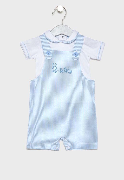 Infant T-Shirt + Dungaree Set