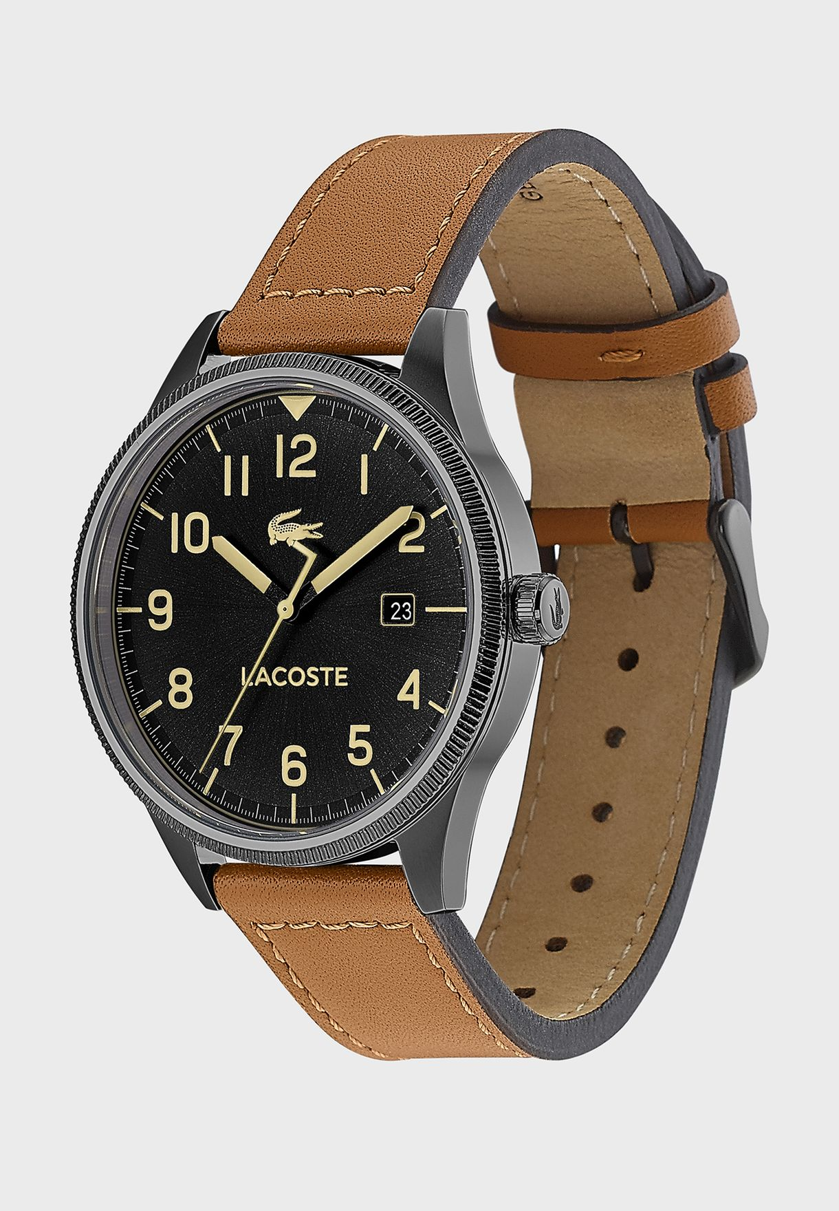2011021 Leather Strap Analog Watch