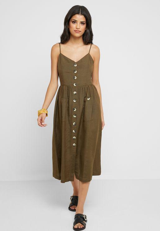 Button Through Cami Dress