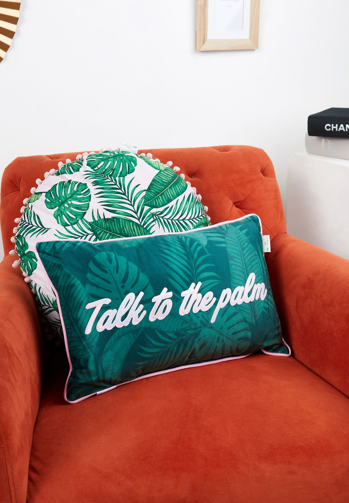 Talk To The Palm Filled Shaped Cushion 30 x 50cm